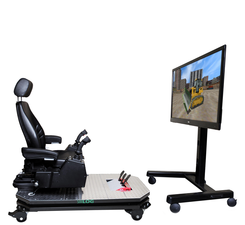 Bulldozer Personal Simulator - Operator Chair - 1 Display