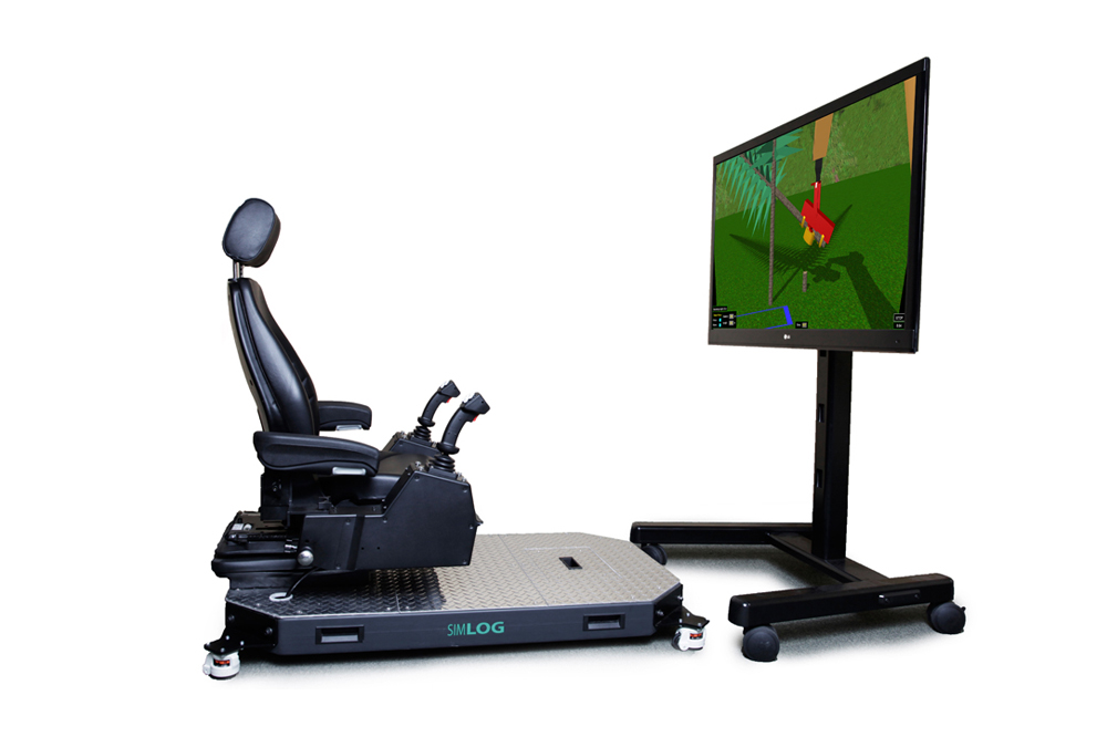 Harvester Personal Simulator - Operator Chair - 1 Display