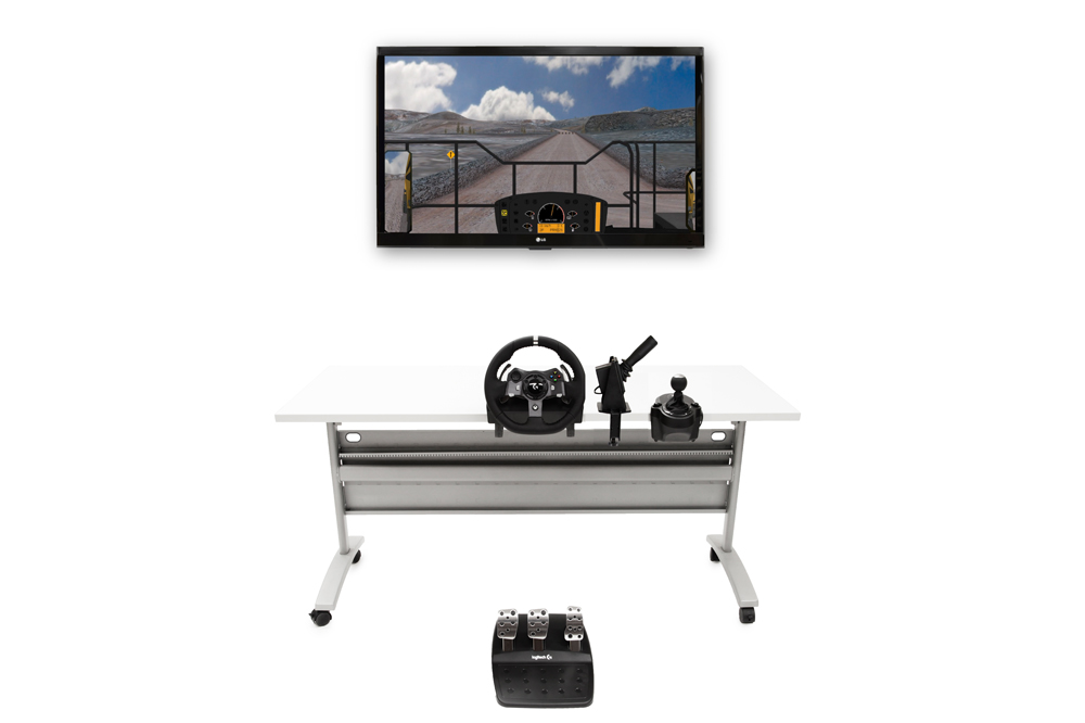 Mining Truck Personal Simulator - Replica Controls - 1 Display