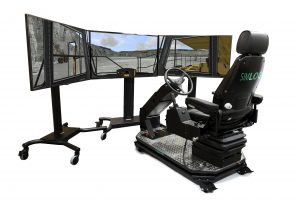 Off-Highway Truck Personal Simulator - Operator Chair - 3 Displays