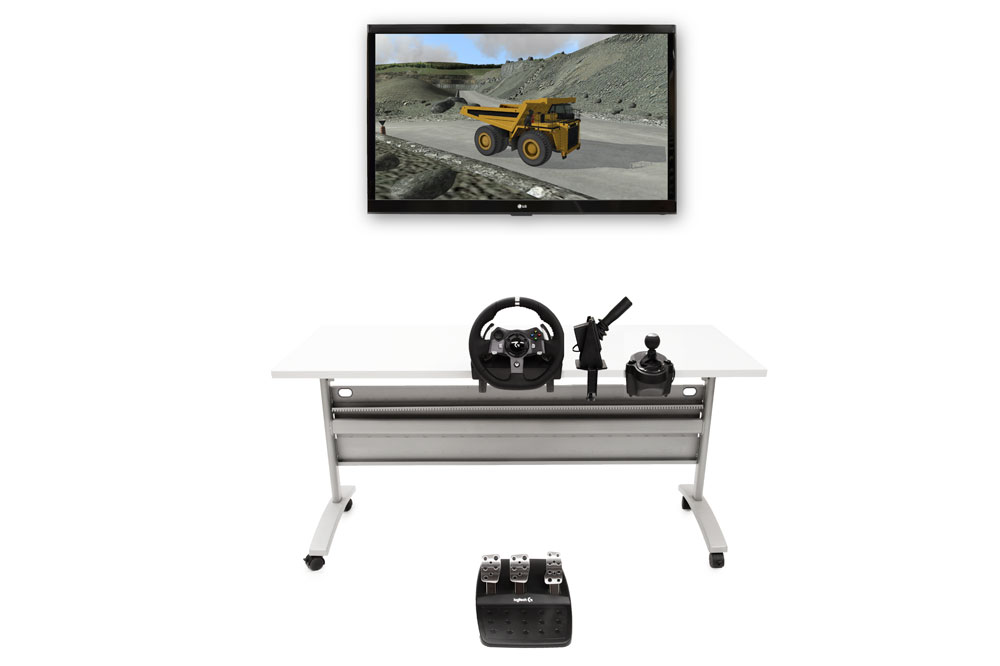 Off-Highway Truck Personal Simulator - Replica Controls - 1 Display