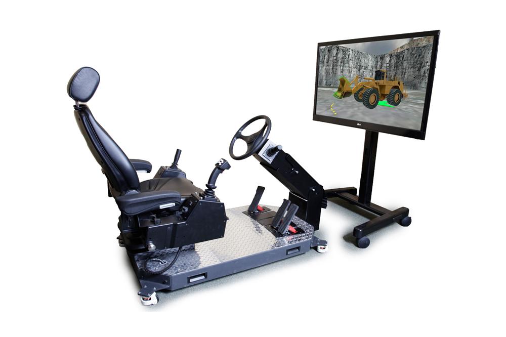 Wheel Loader Personal Simulator - Operator Chair - Steering Wheel Steering
