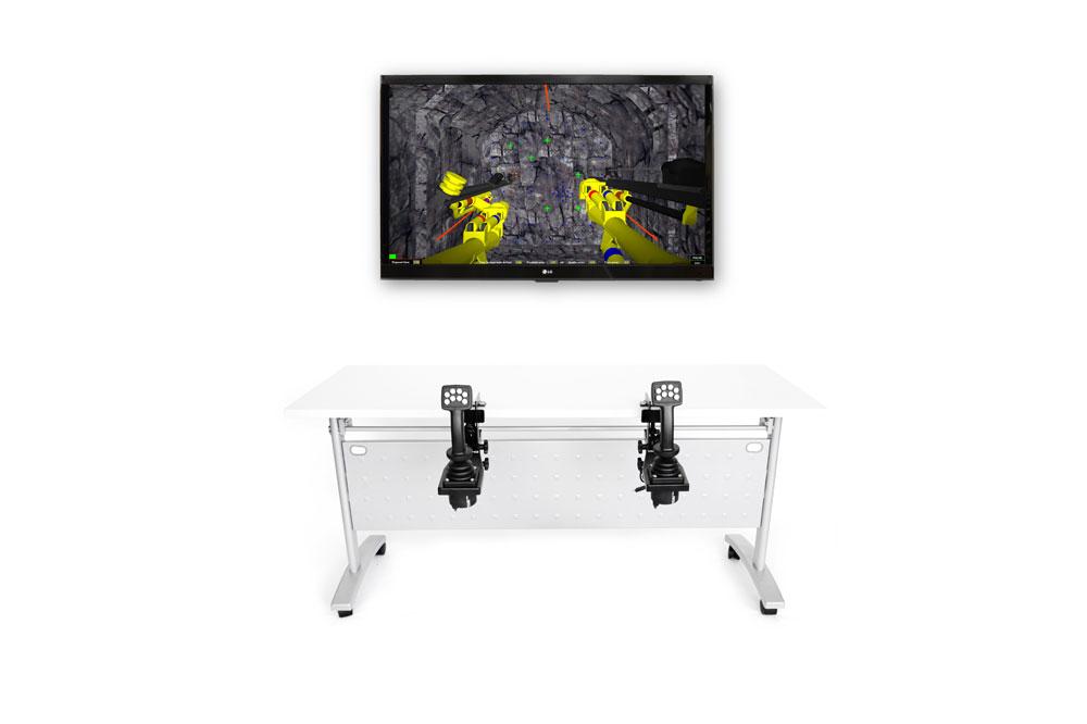 Drill Jumbo Personal Simulator - Joystick-Style Replica Controls