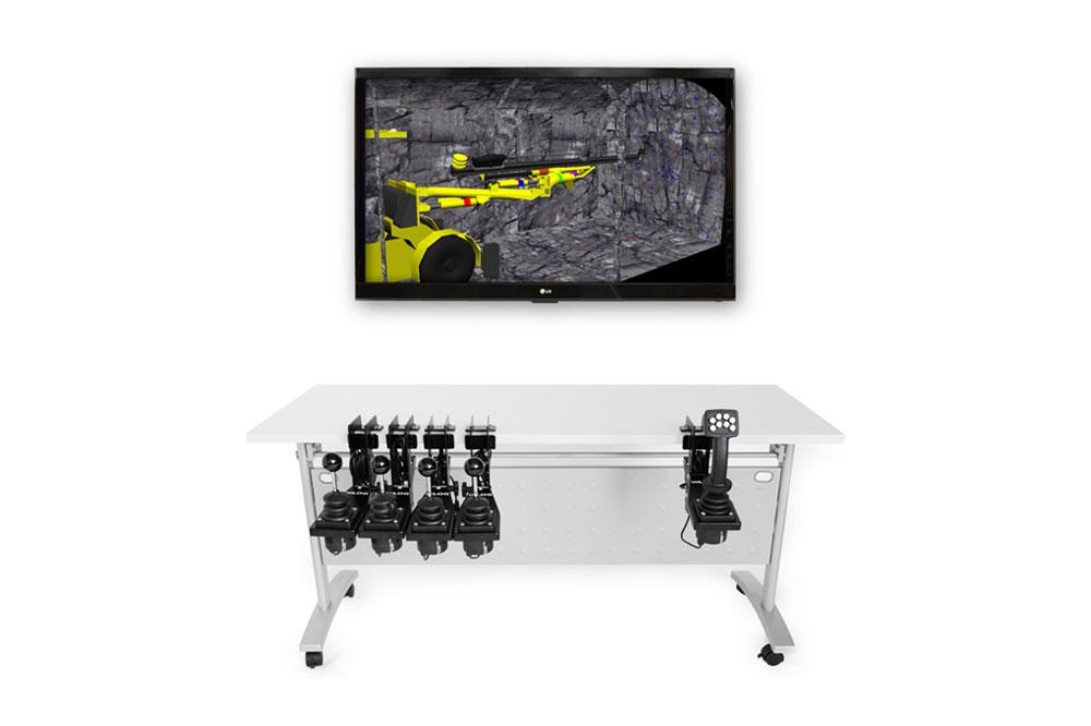 Drill Jumbo Personal Simulator - Lever-Style - Replica Controls