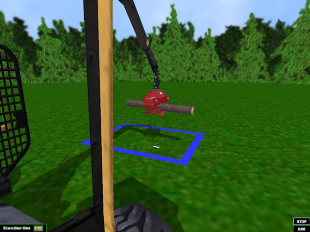 Forwarder Personal Simulator - Module 1 - Grapple Control 1