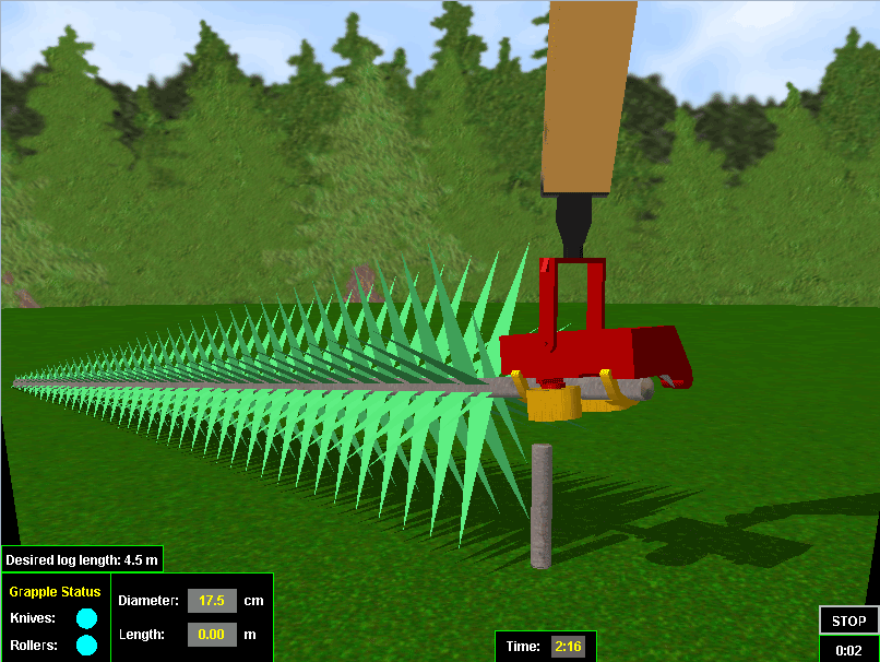 Harvester Personal Simulator - Module 4 - Simple Felling with Cutting-To-Length