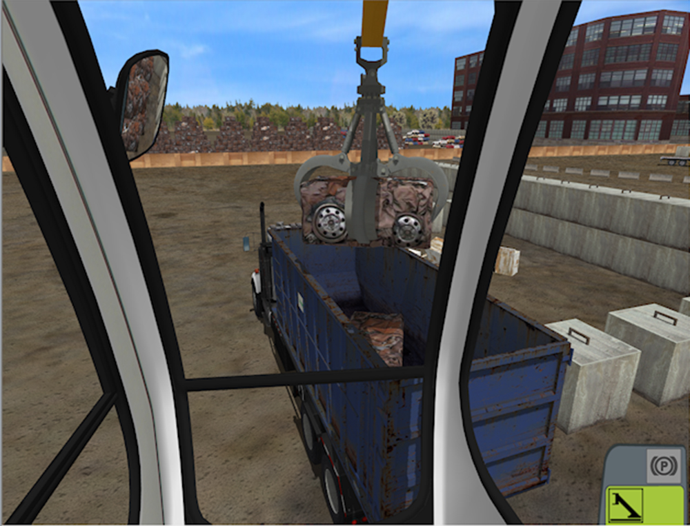 Wheeled Material Handler Personal Simulator - Module 4 - Container Loading 1